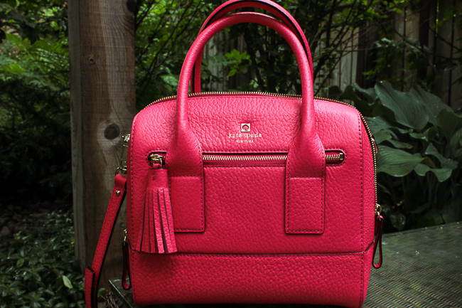 Kate Spade bag in hot pink