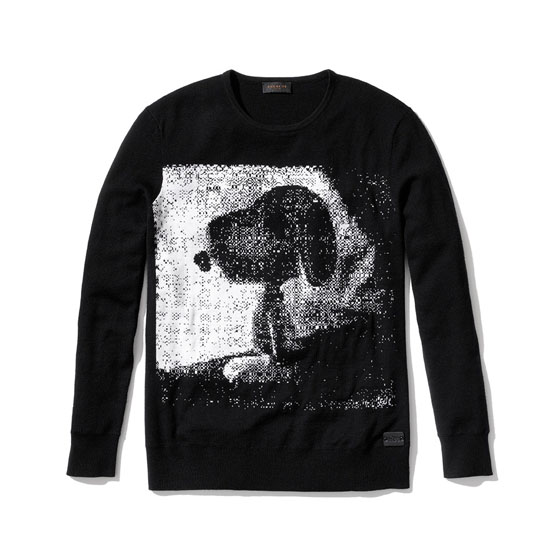 Snoopy sweater Black