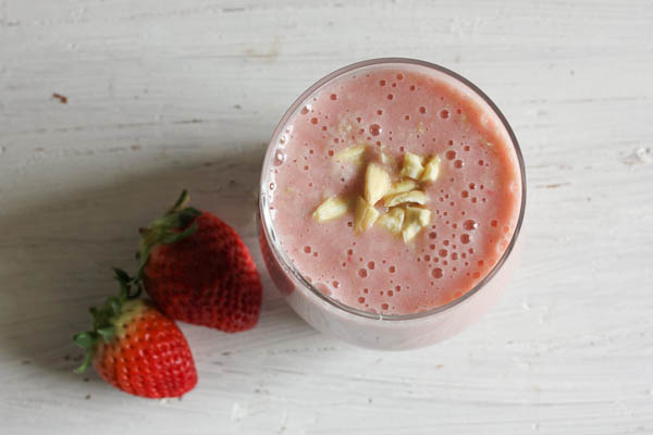 Lactose free strawberry & banana smoothie