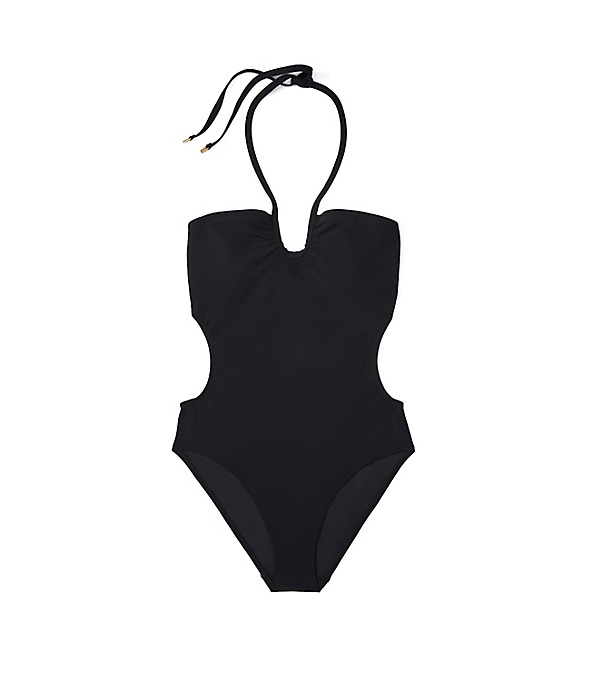 Solid Bandeau one-piece