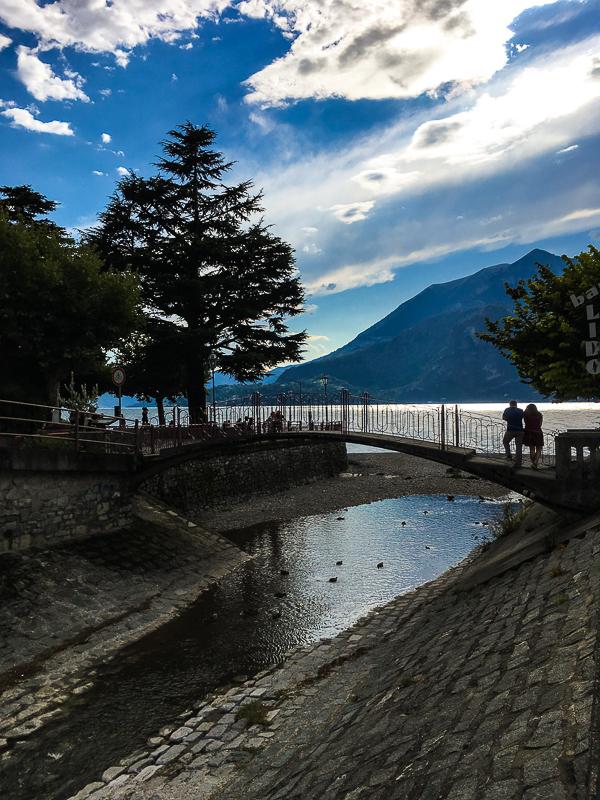 Sipping a cappuccino overlooking Lake Como
