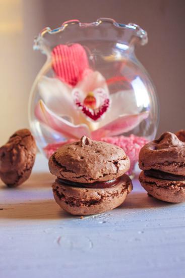 Chocolate coffee macarons