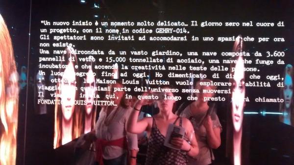 Louis Vuitton exhibit in Rome