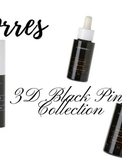 New in Skincare: Korres 3D Black Pine Collection
